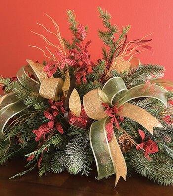 Festive Pine Basket Arrangement