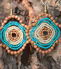 Stone Age Quatrifoil Wired Earrings