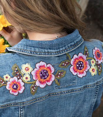 How To Make A Feminine Touch Floral Denim Jacket
