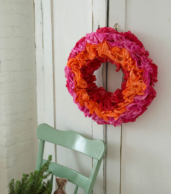 How To Make A Dyed Coffee Filter Wreath