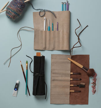 How to Sew a Suede Brush Holder