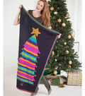 Learn to knit Rainbow Tree Throw