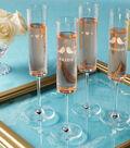 Etched Champagne Flutes, Martha Stewart