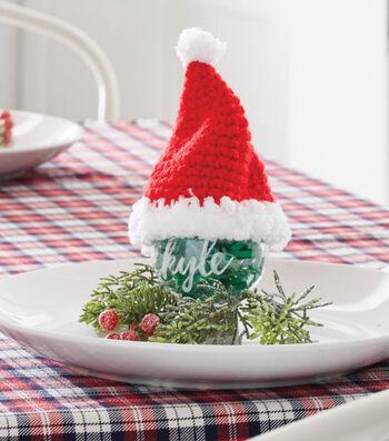 How To Make Crochet Santa Ornament Hats