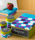 Idea Market Funky Spots and Dots Chalkboard Storage Container