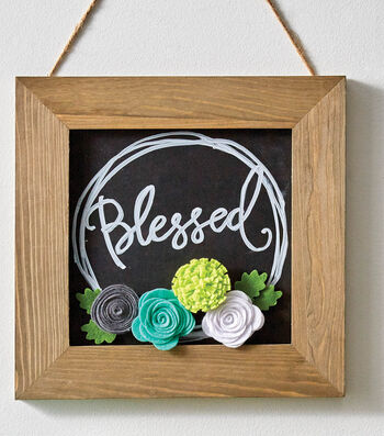 How To Make A Chalkboard with Framed Flowers