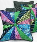 Homestead Pinwheel Button Pillow