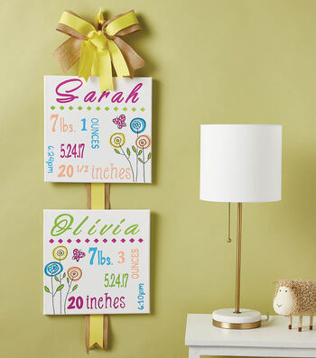 How To Make A Baby Announcement Canvas