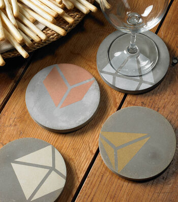 How To Make Geometric Concrete Coasters