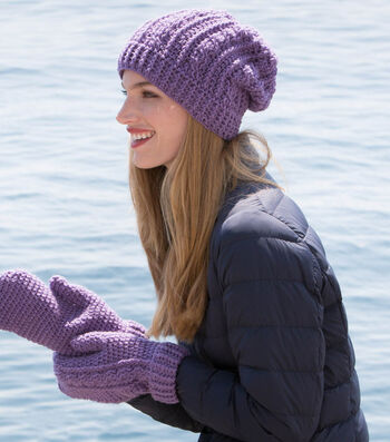 How To Make A Crochet Cables Hat and Mitten Set