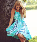 Moody Blues Abstract Tie Dyed Dress