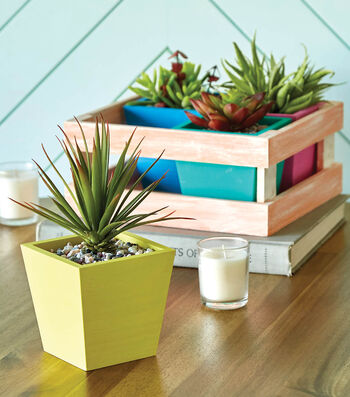 How To Make A Wood Crate Planter With Succulents