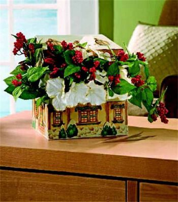 Holiday Tin Floral Arrangement