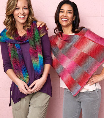 How To Make A Bargello Knit Poncho and Knit Scarf