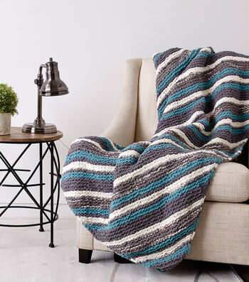 Diagonal Stripes Throw
