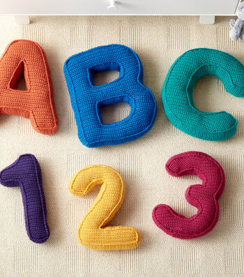 How To Make ABC'S and 123'S Crochet Pillows