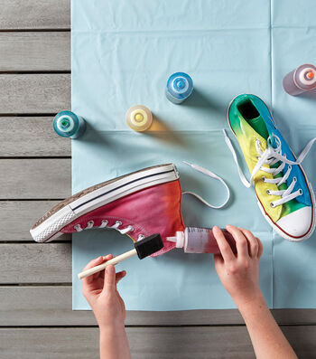 How To Make Tie Dye Sneakers With Tulip