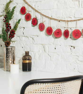 How To Make Dyed Wood Christmas Garland