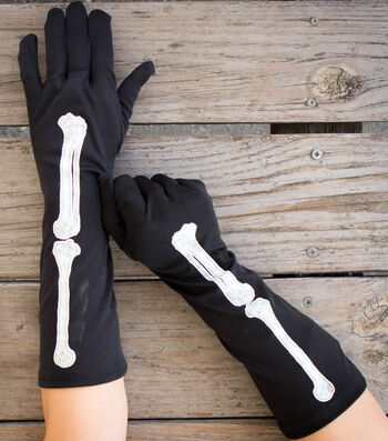 How To Make Dress Black Halloween Gloves