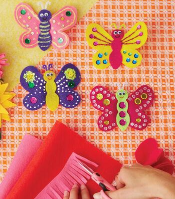 Learn To Make Felt Finger Butterflies