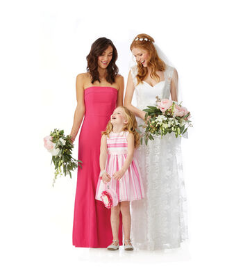 Pink Burnout Striped Flower Girl Dress
