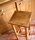 Painted Scroll Wooden Stool