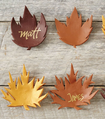 Clay Leaf Place Cards