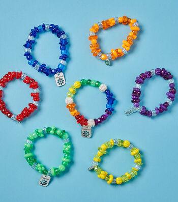 Make Rainbow Favor Bracelets