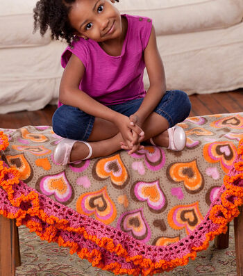 How To  Make A Girlie Fleece Blanket Edging