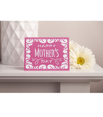 How To Make Happy Mother's Day Cricut Card