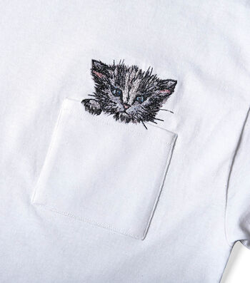 How To Make A Kitten In A Pocket Tee