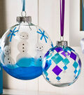 Gallery Glass Winter Holiday Ornament