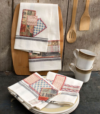 How To Make Eclectic Embroidered Dish Towels