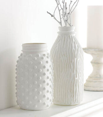 Milk Glass Jar and Jug