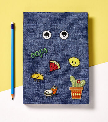 How To Make A Fabric Wrapped Book with Patches