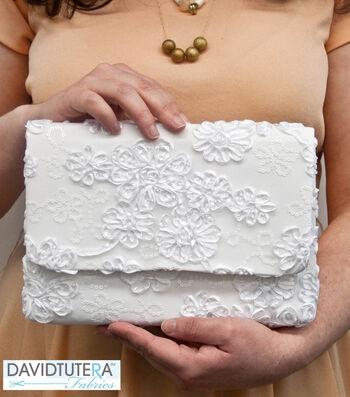 David Tutera Fabrics Lace Clutch