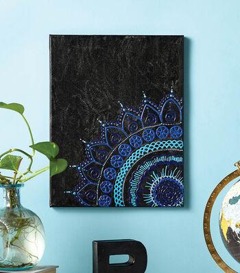 How To Make A Black Henna Designed Canvas