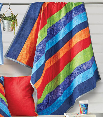 """How To Make A 43"""" x 48"""" Quilted Wall Hanging with Uneven Stripes"""