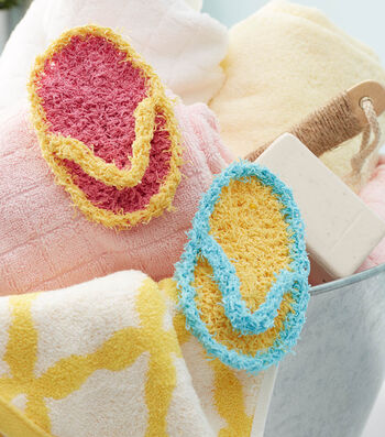 How To  Crochet A Flip Flop Scrubby