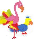 Foam Flamingo & Parrot