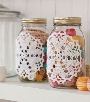 How To Make A Hearts Desire Doily-ed Jar