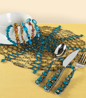 Beaded Flatware and Placemat