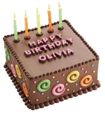 Candy Swirls Birthday Cake
