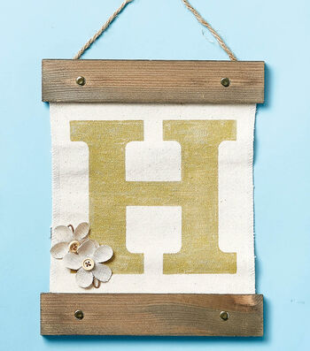 Make A Initial Canvas Wall Hanging