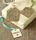 Hand Stamped Wooden Gift Tags