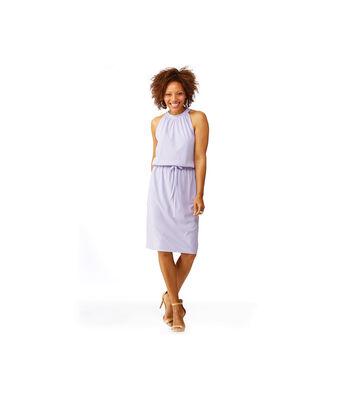 Crepe Knit Lilac Dress