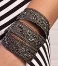 Beaded Trim Wraparound Bracelet