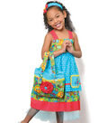 Pretty Appliqued Pocket Dress