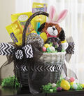 Black and White Ombre Easter Basket