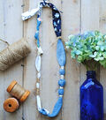 Blue Fabric  Necklace